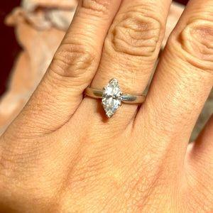 1.0 carat marquis cut ring